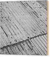 Rusting Repaired Corrugated Iron Roof Sheeting In Edinburgh Wood Print by Joe Fox