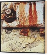 Rusty Bolt Abstraction Wood Print by Anna Villarreal Garbis