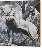 Sabre-toothed Tigers Wood Print by Richard Hook