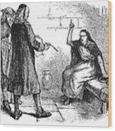 Salem Trials: Martha Corey Wood Print by Granger