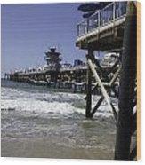 San Clemente Pier Wood Print by Joenne Hartley