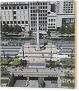 San Francisco - Union Square - 5d17942 Wood Print by Wingsdomain Art and Photography
