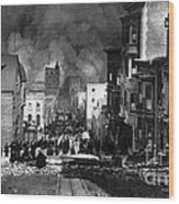 San Francisco Burning After 1906 Wood Print by Science Source