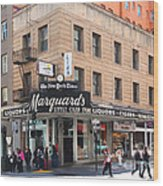 San Francisco Marquards Little Cigar Store On Powell Street - 5d17950 - Painterly Wood Print by Wingsdomain Art and Photography