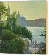 San Giorgio - Venice  Wood Print by Timothy Easton