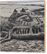 Sand Dragon Sculputure Wood Print by Garry Gay