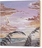 Sanibel Island Sunset Wood Print by Jack Skinner