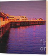 Santa Cruz Wharf Wood Print by Garnett  Jaeger