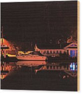 Saugatuck Chain Ferry Wood Print by James Rasmusson