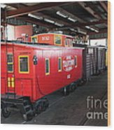 Scale Caboose - Traintown Sonoma California - 5d19240 Wood Print by Wingsdomain Art and Photography