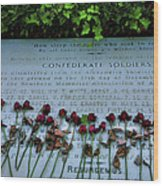 Scatter Roses On My Grave Wood Print by Steven Ainsworth