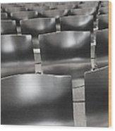 Sea Of Seats I Wood Print by Anna Villarreal Garbis