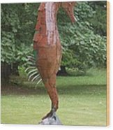 Seahorse Wood Print by Ben Dye