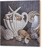 Seashells Wood Print by Tom Mc Nemar