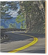 Section Of Columbia River Gorge Wood Print by Tatiana Boyle