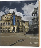Semper Opera House Dresden - A Beautiful Sight Wood Print by Christine Till