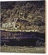 Shipwreck Wood Print by Tom Prendergast