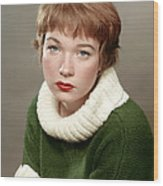 Shirley Maclaine, Late 1950s Wood Print by Everett