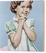 Shirley Temple, Ca. 1936 Wood Print by Everett