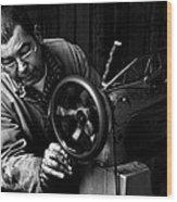 Shoemaker Wood Print by Ilker Goksen
