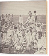 Siberia, Siberian Convicts Taking Lunch Wood Print by Everett
