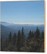 Sierra Nevada Mountains Wood Print by Naxart Studio