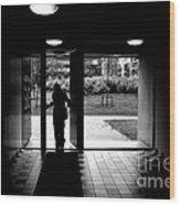 Silhouette Of A Man Wood Print by Fabrizio Troiani