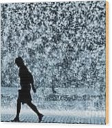 Silhouette Over Water Wood Print by Carlos Caetano