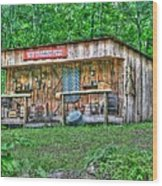 Silver River Trading Post Wood Print by Myrna Bradshaw
