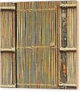 Simple Bamboo Door Wood Print by Yali Shi