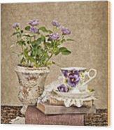 Simple Pleasures Wood Print by Cheryl Davis