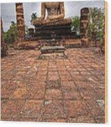 Sitting Buddha Wood Print by Adrian Evans