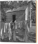 Slave's Quarters Wood Print by Bourbon  Street