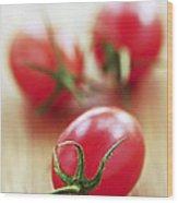 Small Tomatoes Wood Print by Elena Elisseeva