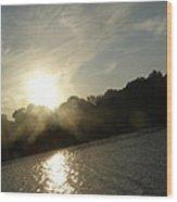 Smokey Sun Wood Print by Brityn Klehr