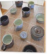 Snickerhaus Pottery Wood Print by Christine Belt