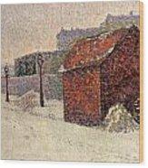 Snow Butte Montmartre Wood Print by Paul Signac