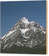 Snow Covered Mountain Wood Print by Amanda Kiplinger