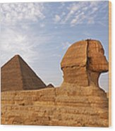Sphinx Of Giza Wood Print by Jane Rix