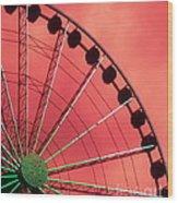 Spinning Wheel  Wood Print by Karen Wiles