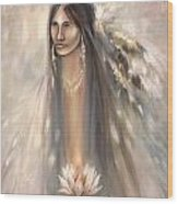 Spirit Woman Wood Print by Charles Mitchell