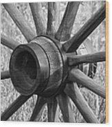 Spokes Wood Print by Ernie Echols
