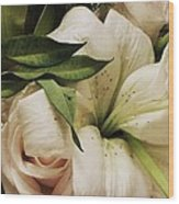 Spring Flowers Wood Print by Anna Villarreal Garbis