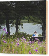 Spring Love Wood Print by Tamyra Ayles