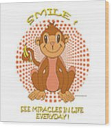 Spunky The Monkey Wood Print by John Keaton
