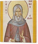 St Herman Of Alaska Wood Print by Julia Bridget Hayes