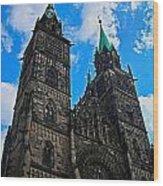 St. Lorenz Church - Nuremberg Wood Print by Juergen Weiss