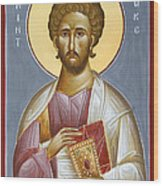 St Luke The Evangelist Wood Print by Julia Bridget Hayes