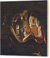 St. Sebastian Tended By Irene Wood Print by Georges de la Tour