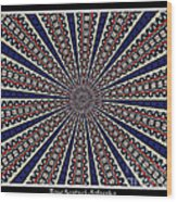 Stained Glass Kaleidoscope 49 Wood Print by Rose Santuci-Sofranko